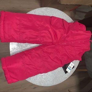 NWT Kids toddlers 24M pink London Fog snow pants